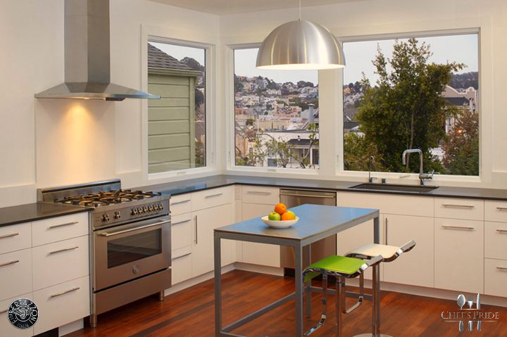 #Bertazzoni #Professional stove in a kitchen with a view. Wow! More info?  http://www.chefspride.co.za/contact-us/