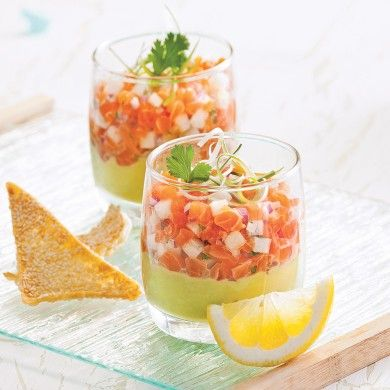 Tartare de saumon à l'asiatique en verrine - Recettes - Cuisine et nutrition - Pratico-Pratique - Tapas