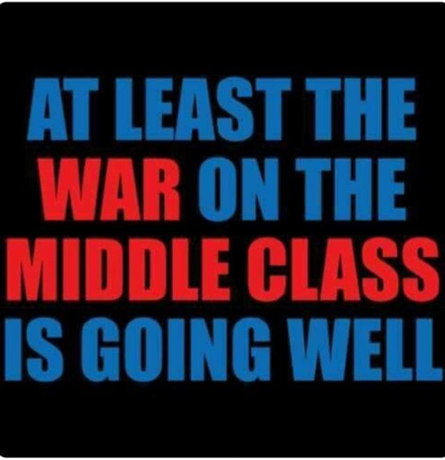 It's going well because Republicans re elected the very people who are waging the war on the Middle Class. Medicare, Social Security, Healthcare, Childcare, Women's Rights, Civil Rights, Minimum Wage Increase....All on the Chopping Block.