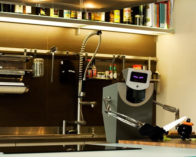 Raw Fish & Helpful Robot by David Girard, via Behance