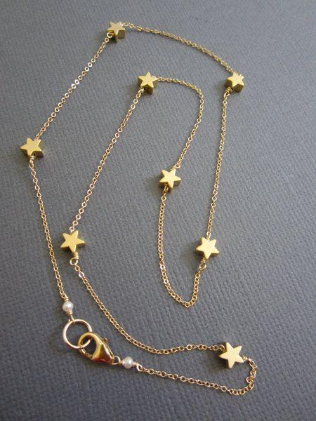 7 kleine Star Halskette, funkeln Funkeln wenige Stern-Halskette, zarten Stern, Lehrer inspirieren, Kette, Geschenk für Lehrer, Geschenk für Lehrer