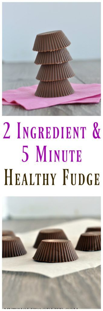 This Easy 2 Ingredient Fudge is so super simple to make. Whip it up in minutes when you get a sweet craving! Vegan, gluten free and paleo!