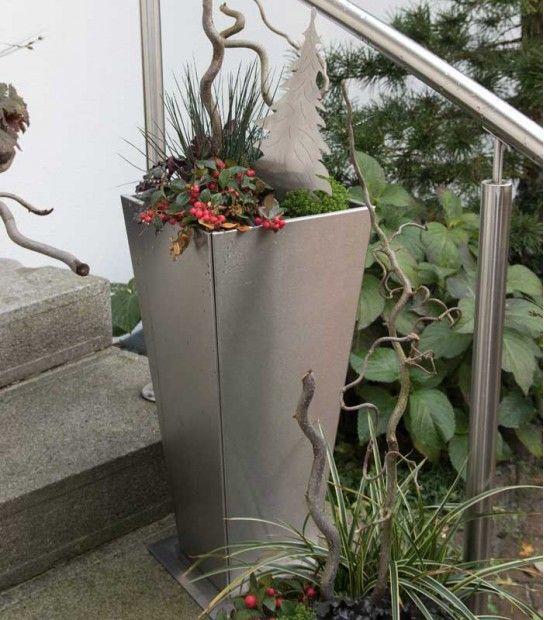 Pflanzgefäß 65 cm, Edelstahl
