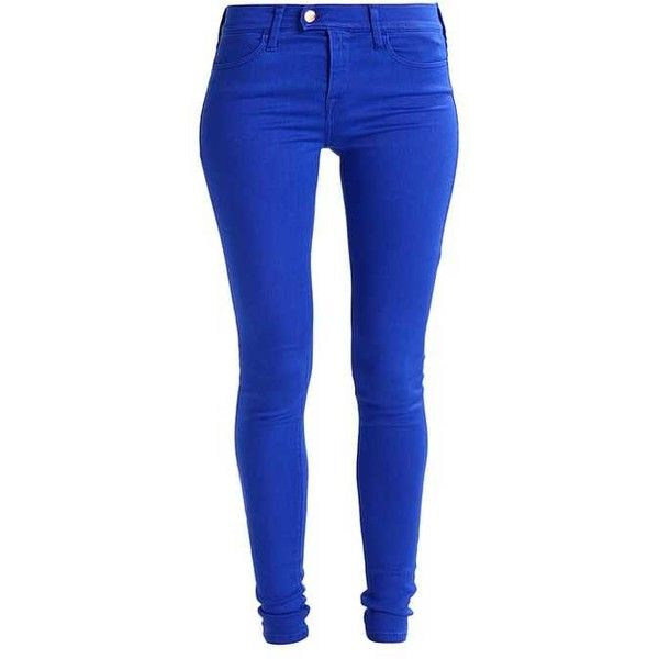 TOUCH Jeans Skinny Fit royal blue ❤ liked on Polyvore featuring jeans, skinny jeans, super skinny jeans, blue jeans, skinny leg jeans and royal blue jeans