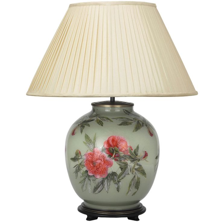 Forest Lichen Peony Table Lamp Base Only