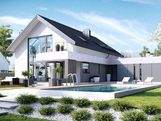Projekt - HomeKONCEPT 2 G2 (podwójny garaż) - mieszkalny - otoDom.pl