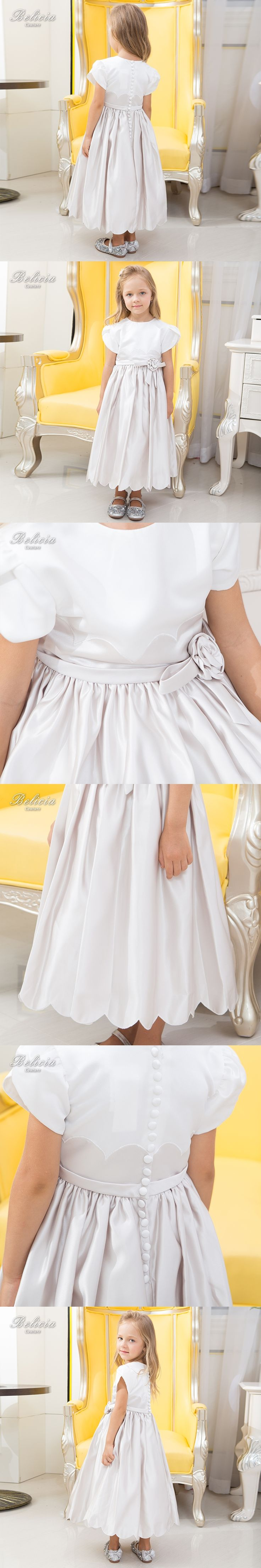 Belicia Couture Flower Girl Dresses For Wedding Flower Belt First Communion Dresses for Girls A Line Party Communion Dress