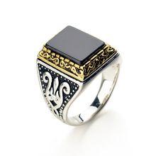 2016 Real Do Punk rock Banhado A Ouro Branco Anéis de casamento para os homens Marca De Luxo Do Vintage Nova Venda Quente #10354(China (Mainland))