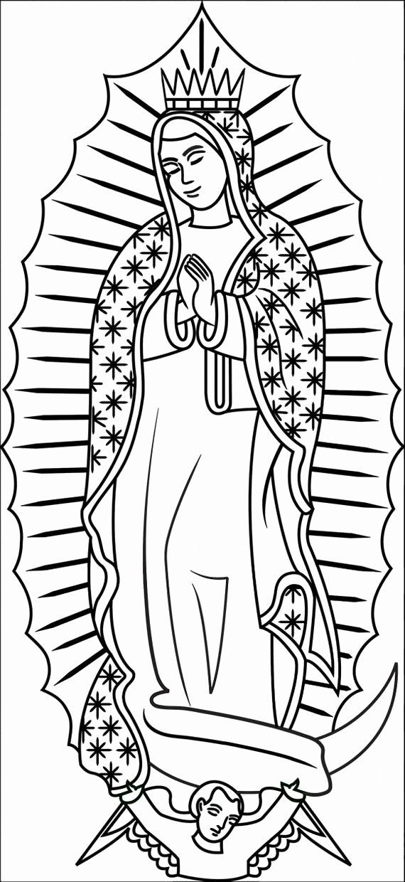 Our Lady Of Guadalupe Coloring Page Inspirational Items Similar To Color Your Own Our Lady Of Guadalupe In 2020 Coloring Pages Catholic Coloring Virgin Of Guadalupe