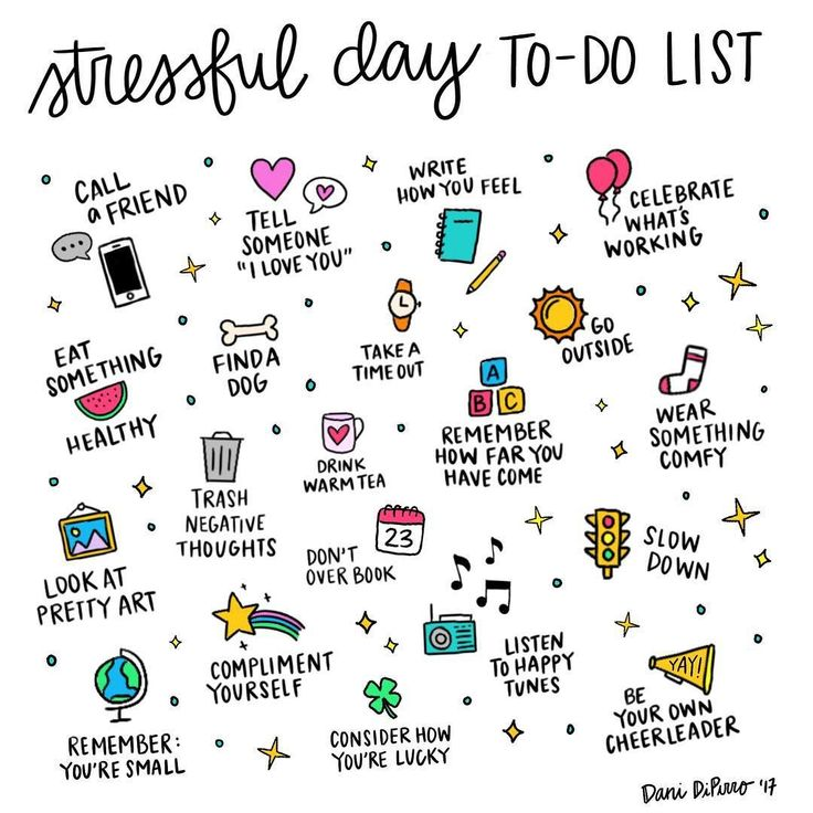 Having a stressful day? Here are some ideas that might help. Hang in there!