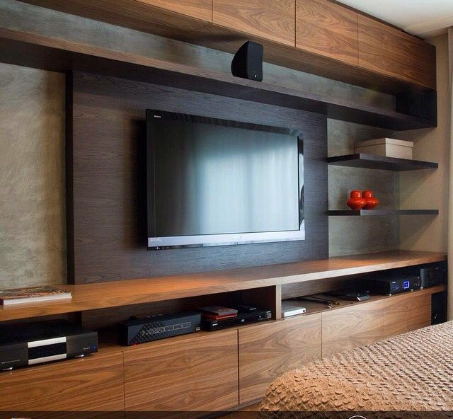 Love this idea for the TV wall...