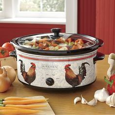 6.5-Qt. Rooster Slow Cooker
