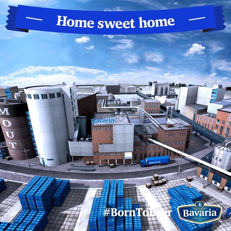 La mia casa? Un grande stabilimento al centro di Lieshout, nel Sud dell'Olanda. All'interno, le diverse aree ospitano le fasi di produzione di Bavaria tra ammostatura, decantazione, bollitura, chiarificazione, fermentazione, maturazione, filtrazione e per finire l'imbottigliamento! #borntobeer