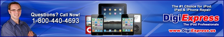 DigiExpress offers great repair solutions to your iPod, iPad and iPhone.  We repair cracked screens, batteries, LCD screens, back plates, head phone jacks and the list goes on.  We offer top quality service, 24 hour online order tracking,  and fast turn time so you can have your repaired device back to you as quickly as possible.  Do you need your repair expedited? We now offer a 24 hour Express Repair Service! Check out our website at www.digiexpress.us