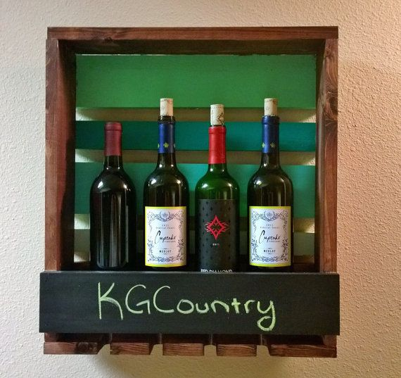 Wood Wine Rack/Wall Wine Rack by KGCountry on Etsy, $35.00