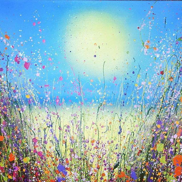 By the sea Oil on Canvas By UK Flower Artist Yvonne Coomber