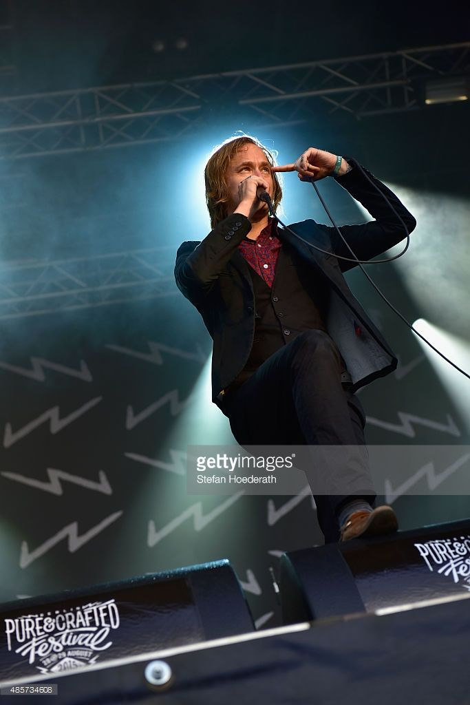 Dennis Lyxzen of Refused performs on stage at the Pure & Crafted Festival…