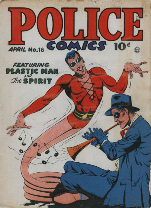 Jack ColeApril 1943, Comics Book, Police Comics, Jack Cole, Dc Comics, Comics Covers, Book Covers, Jack O'Connel, Comics 18