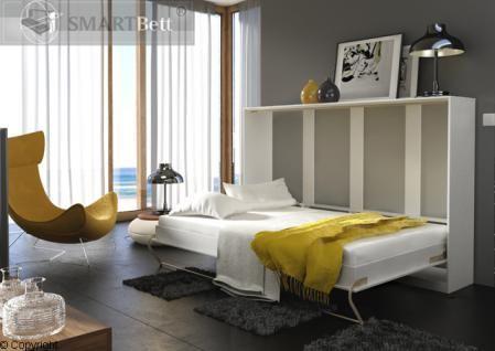 Schrankbett Smartbett Klappbett 120 Weiß/Hochglanzfront Wandbett Murphy bed - Vorschau 2