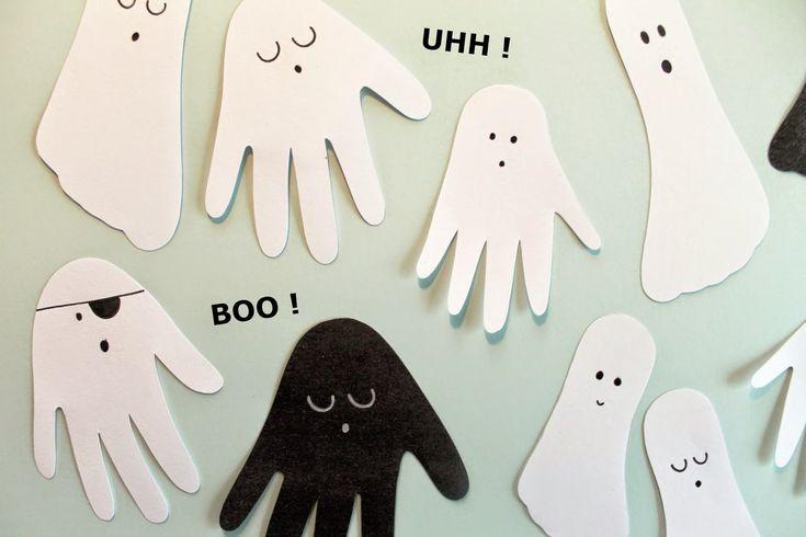 BOO ! og UHH ! nogle søde Halloween Spøgelser | Den Kreative Sky