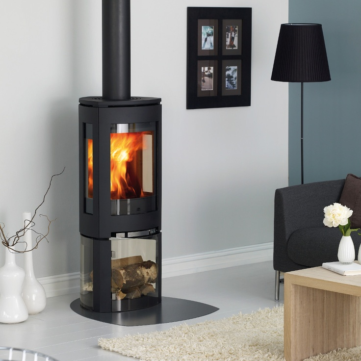 Our Jotul F376 Woodburning Stove With 3 Sided Glass Base