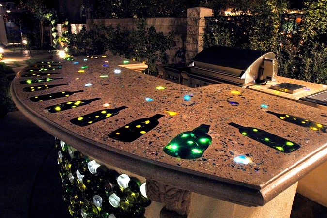 Lighted Countertop Outdoor Kitchens The Green Scene Chatsworth, CA