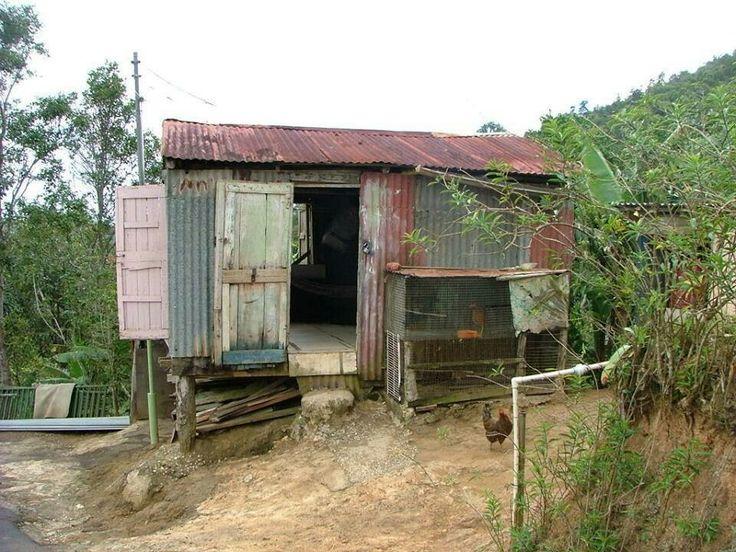 Casas de zinc asi eran en el p r de antes boricua - Como se construye una casa de madera ...