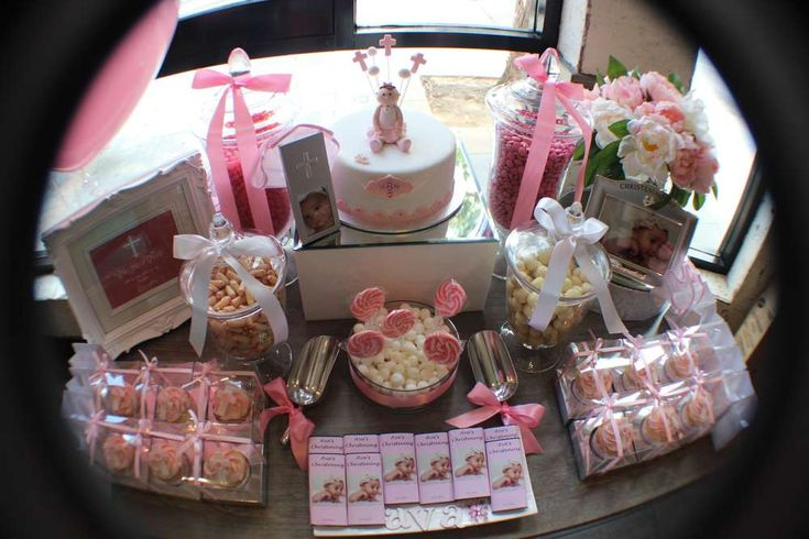 Pink Baptism Party Ideas | Photo 6 of 15 | Catch My Party