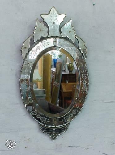 Miroir venitien ameublement seine maritime for Miroir venitien
