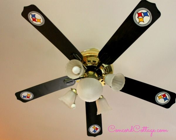 How to Paint Steelers Football Ceiling Fan Hubs Will Love #Easyupdate