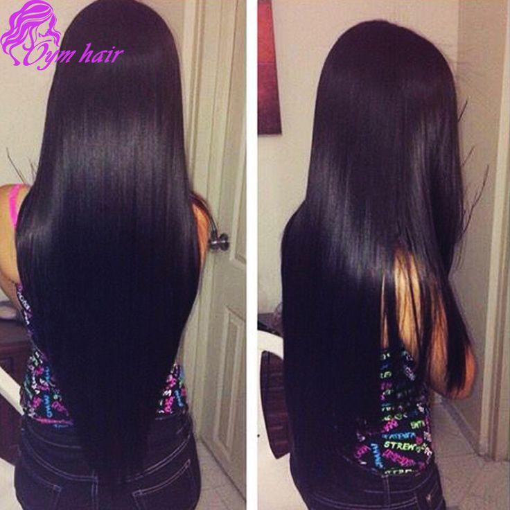 Unprocessed 10A Natural Black soft Brazilian Virgin Hair Straight 100 Buy Brazilian Straight Hair Deals Online 3 Bundles
