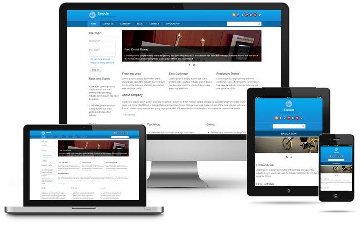 Execute Responsive Theme   Drupal Free Theme   Drupal Premium ...