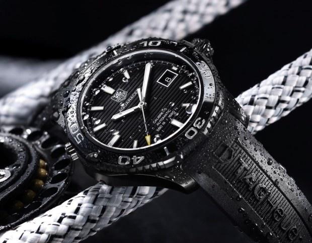 """New 2012 TAG Heuer Aquaracer 500 """"Full Black"""" CeramicTag Heuer, 2012 Tags, Aquaracer Black, Aquaracer 500M, Mechanics Watches, Heuer Aquaracer, Black Watches, Tags Heuer, 500M Ceramics"""