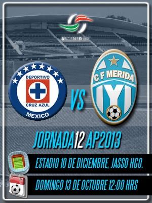 Jornada 12 Apertura 2013 visitando al Cruz Azul Hidalgo en el 10 de Diciembre en Jasso.