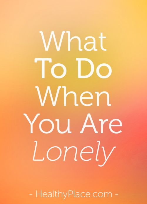 Feeling lonely is a condition most people don't like. Loneliness creates all types of negative feelings. So how do you deal with feeling lonely? Find out.   www.HealthyPlace.com