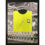 #All Star Signings Carlos Alberto 1970 Brazil Signed and Framed Shirt #Carlos Alberto Torres is one of the most highly regarded defenders of all time. He captained Brazil to victory in the 1970 World Cup and is a member of the World Team of the 20th Century. Carlos Alberto was named by Pelé as one of the top 125 greatest living footballers in March 2004. Here is an official replica 1970 Brazil World Cup shirt signed by Brazilian Legend Carlos Alberto. The shirt was personally signed at…