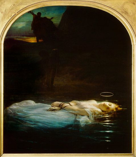 """La Jeune Martyre"" (The Young Martyer) by Paul Delaroche. This piece of art has been a companion through most of my life as one of my favorite works. I saw this in person at a museum in Baltimore and I sobbed for 20 minutes. Don't tell anybody, but I touched it."
