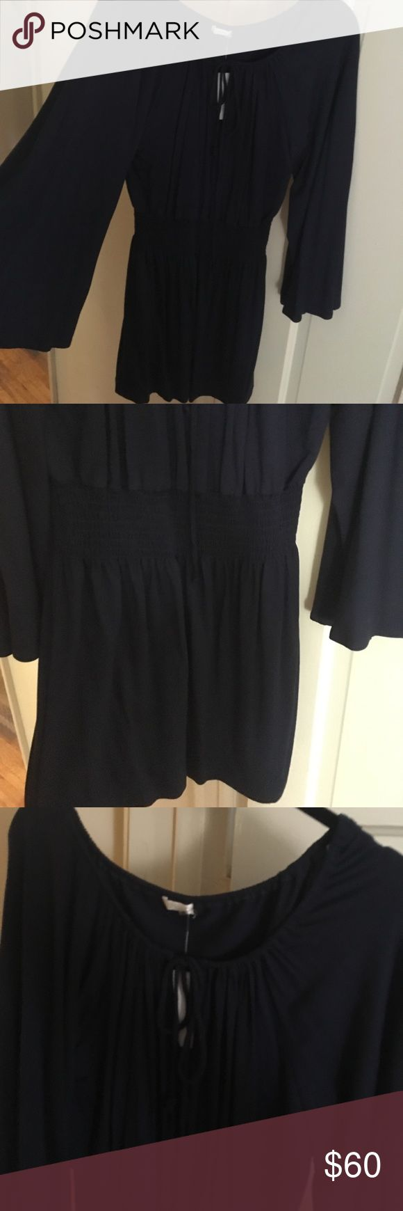 Navy Mini Dress / Navy / Size Medium Navy Mini Dress / Navy / Size Medium / Off-Shoulder Option / Bell Sleeves / New / Never Been Worn - Purchased on Shopbop tart Dresses Mini