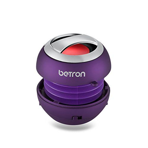 Cheap Betron BPS60 Wireless Bluetooth Speakers Rechargeable Compact Portable Mini Travel Speaker for Bluetooth enabled iPhone iPad Tablets iPod Mp3 Samsung HTC Nokia Blackberry - Purple Best Selling