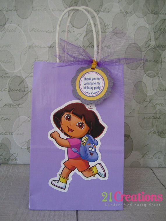Dora the Explorer Favor Bags