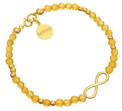 Żółty agat.  http://www.sotho.pl/home/611-zolta-bransoleta-agat-zlota-nieskoczonosc-symbol-infinity-zloto.html