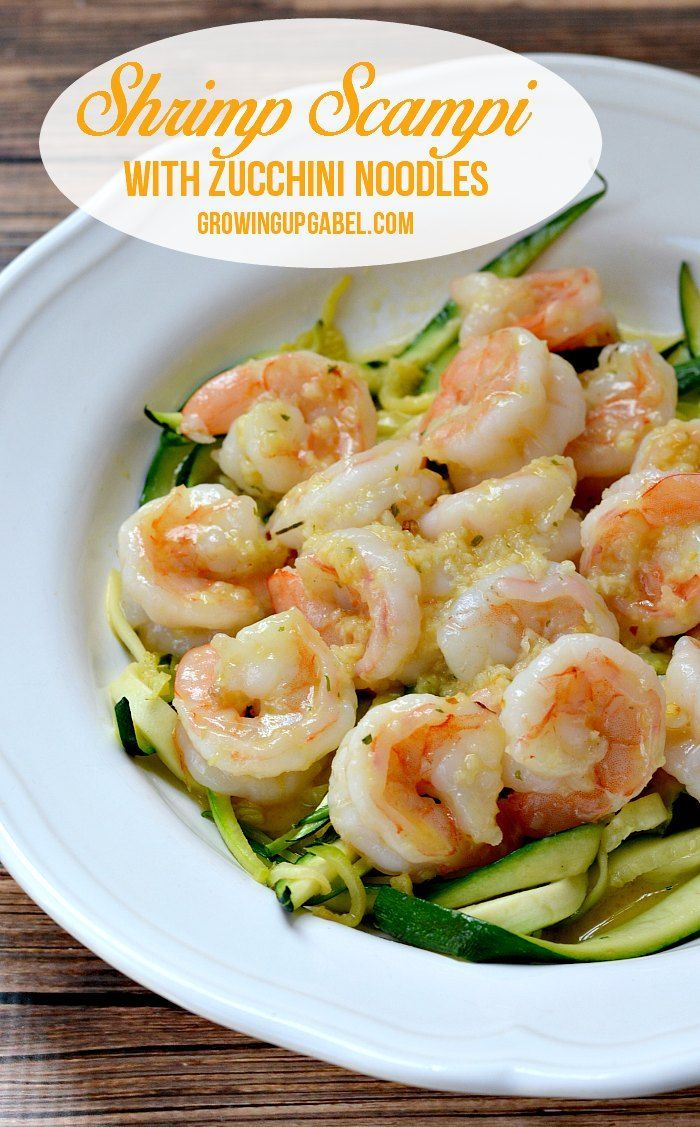 This easy shrimp scampi recipe is also healthy thanks to zucchini noodles! Shrimp, butter, garlic and few seasonings this scampi is made without wine.  It's the best dinner!