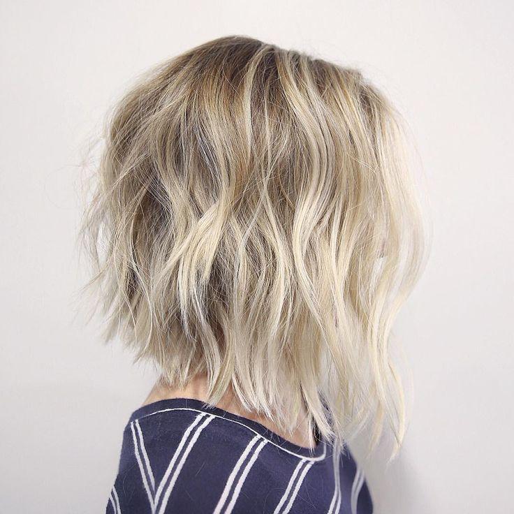 blonde messy long bob- 50 messy bobs