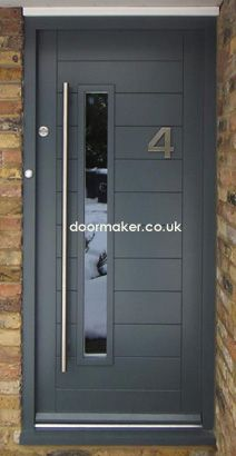 Great contemporary Front Door . . . clean lines and a handle worth holding!