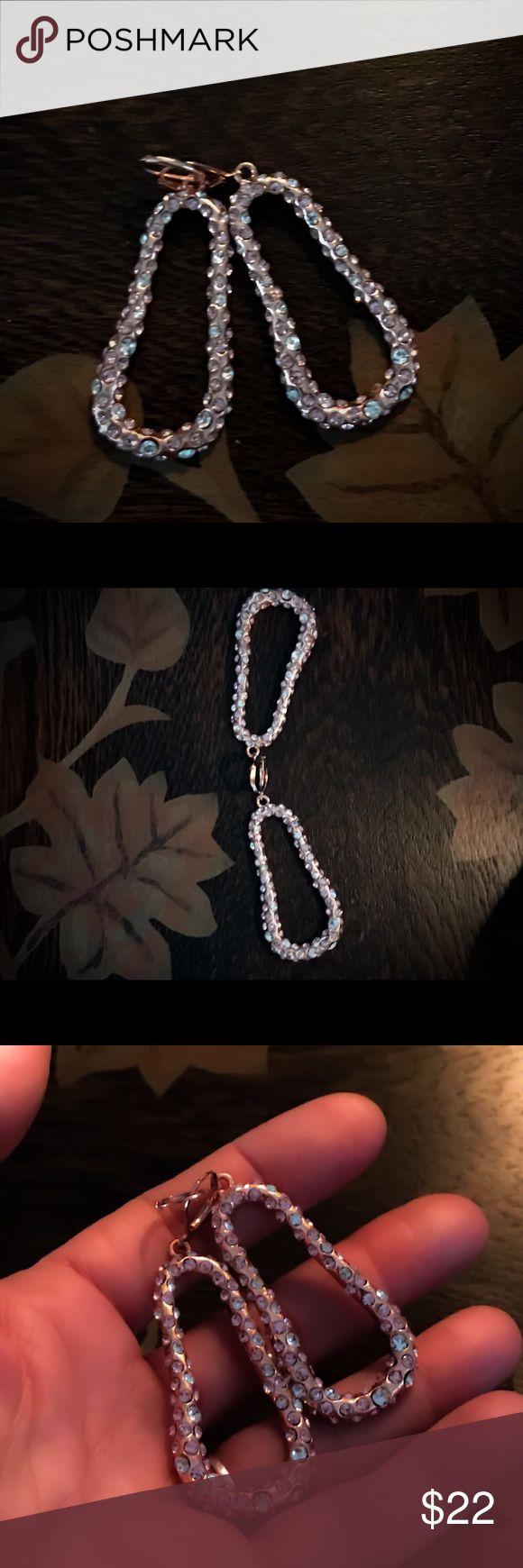 ROSEGOLD CRYSTAL CRUSTED SUSAN GRAVER EARRINGS NWT 🌸🌸🌸🌸🌸 Susan Graver Jewelry Earrings