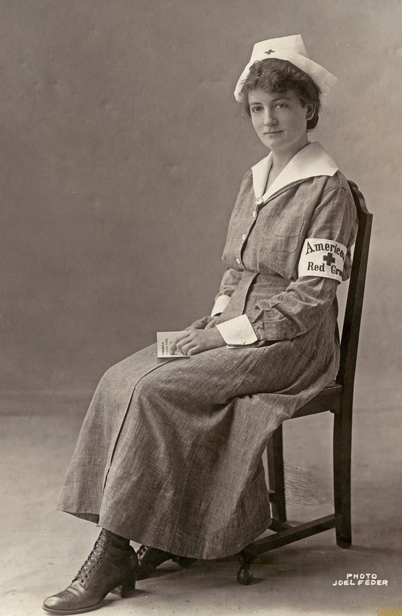 +~+~ Antique Photograph ~+~+   World War l ~ American Red Cross Nurse