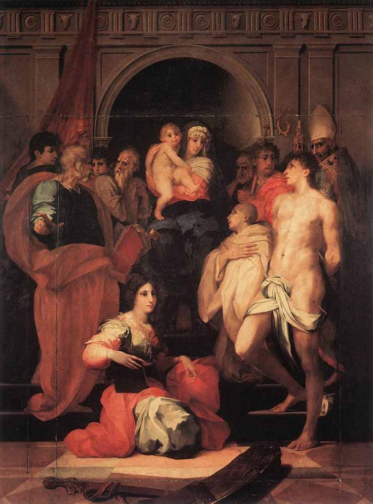 Rosso Fiorentino- Madonna Enthroned and Ten Saints