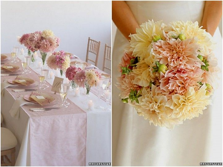 October Flowers :  wedding decor flowers los angeles Dahlias