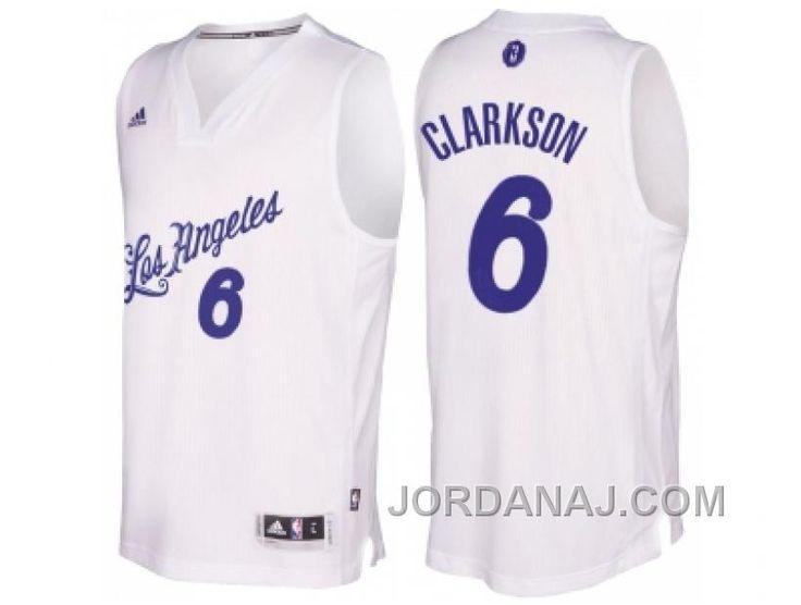 673257cc0 ... Buy Mens Los Angeles Lakers Luol Deng 2016 Christmas Day White NBA  Swingman Jersey from Reliable Nike NBA Los Angeles Lakers 6 Jordan Clarkson  ...