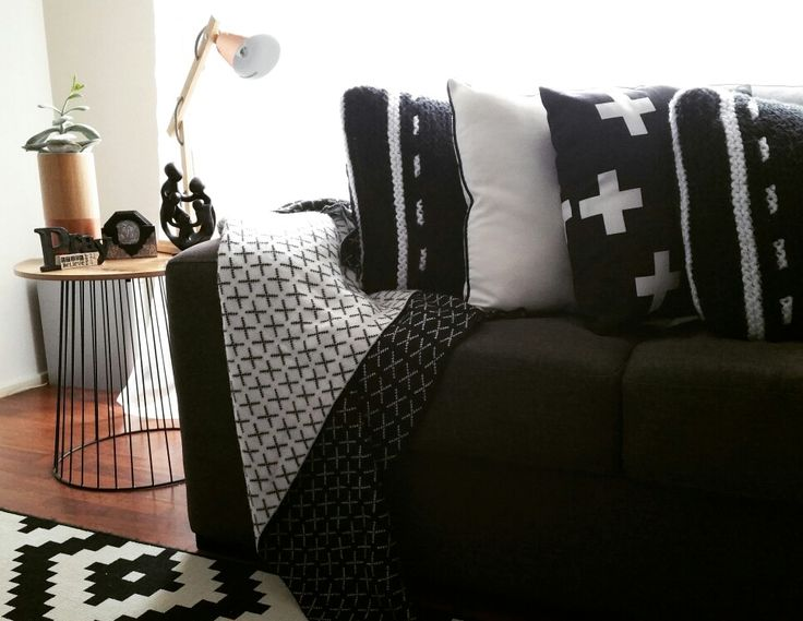 Black and white home styling in my formal living room